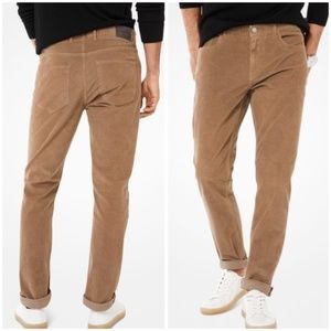 MICHAEL KORS Parker Slim Fit Corduroy Pants 40 32